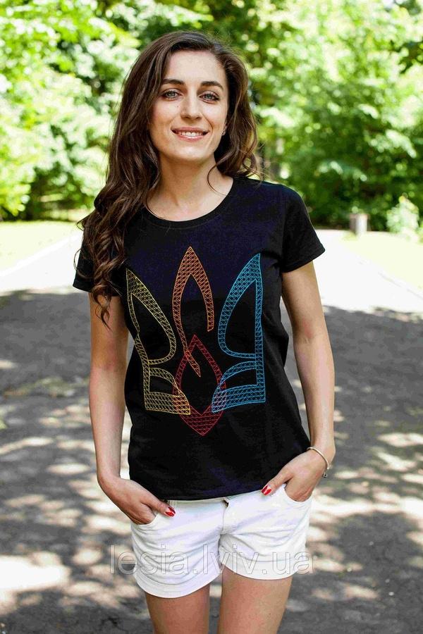 69b14809275d3e Жіноча футболка з вишивкою Тризуб ВОЛЯ - Інтернет-магазин вишиванок ...
